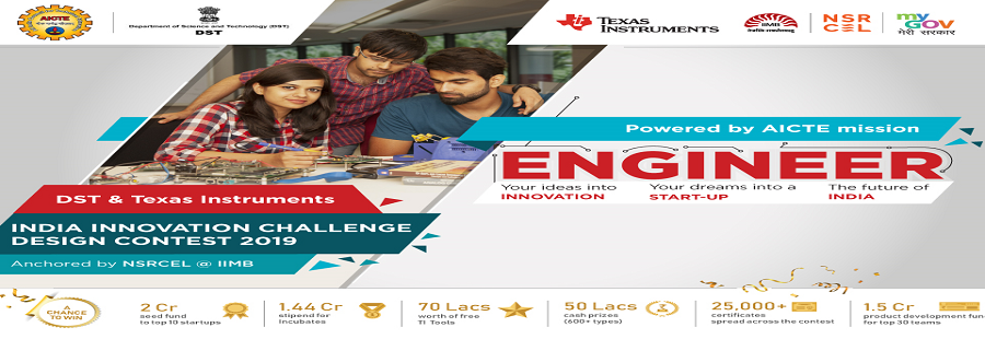 Fr. CRCE,Bandra AICTE-DST-Texas Instruments,  India Innovation Challenge Design Contest 2019