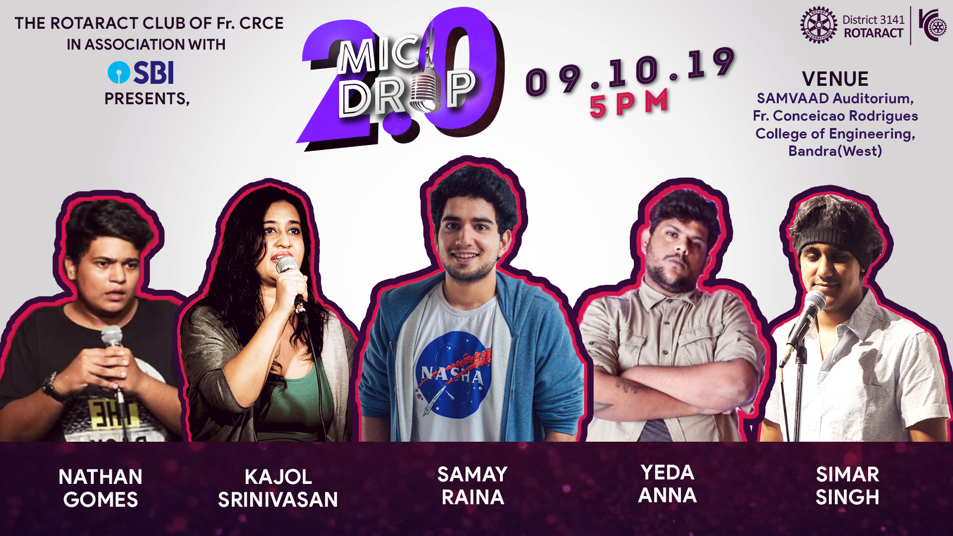 Fr. CRCE,Bandra MIC Drop 2.0,  9 Sept, 2019 @ 5 PM